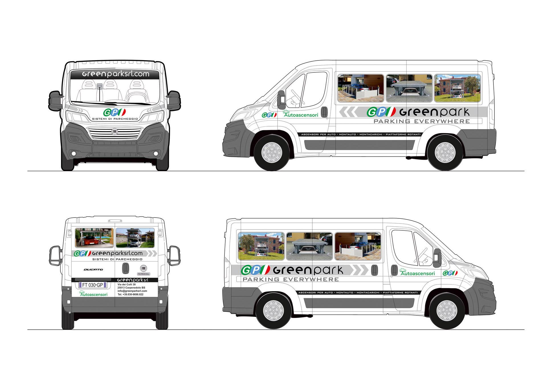 Casarotto Design grafica adesivi decalcomanie automezzi aziendali castiglione delle stiviere mantova brescia camion green park-01-