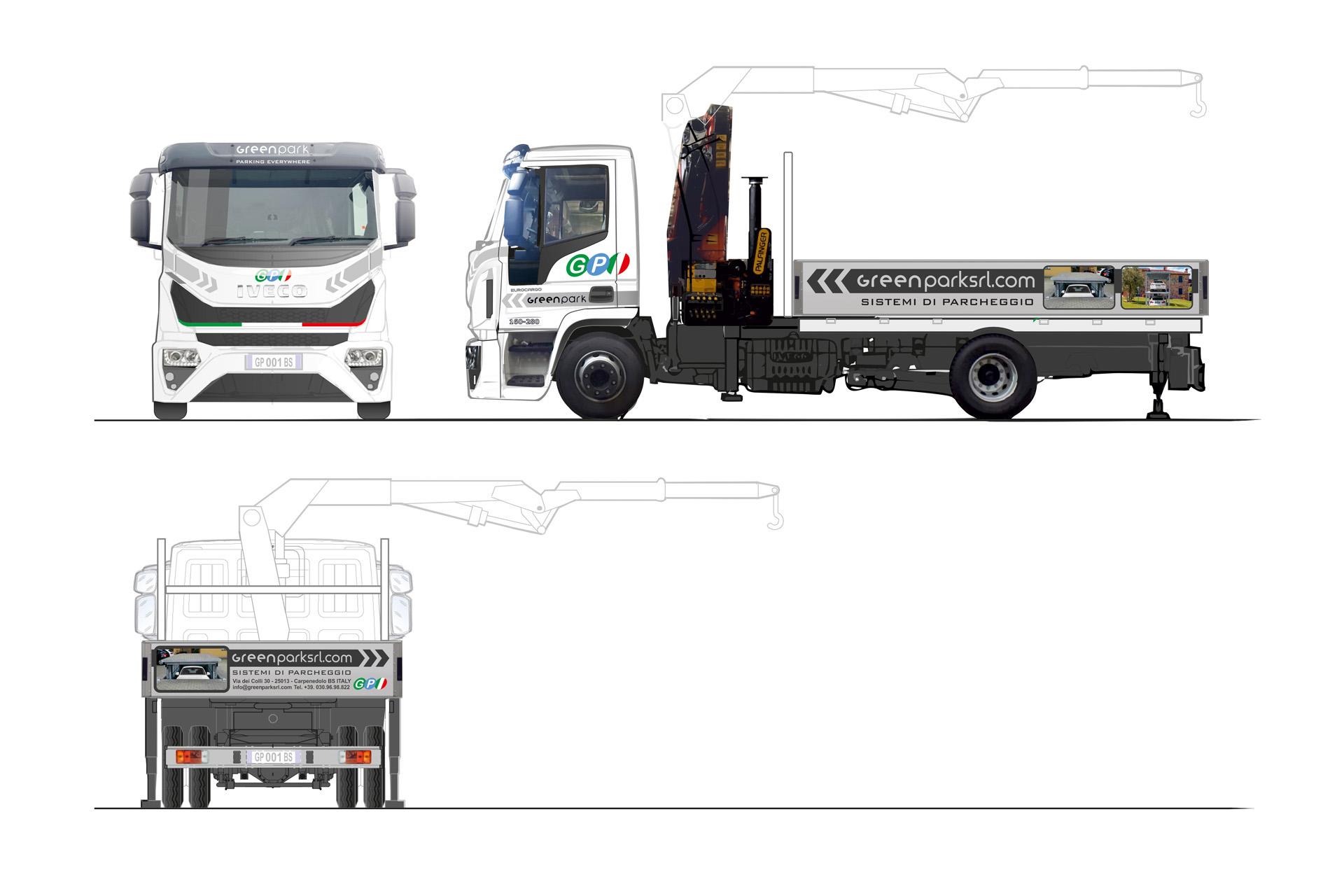 Casarotto Design grafica adesivi decalcomanie automezzi aziendali castiglione delle stiviere mantova brescia camion green park-02