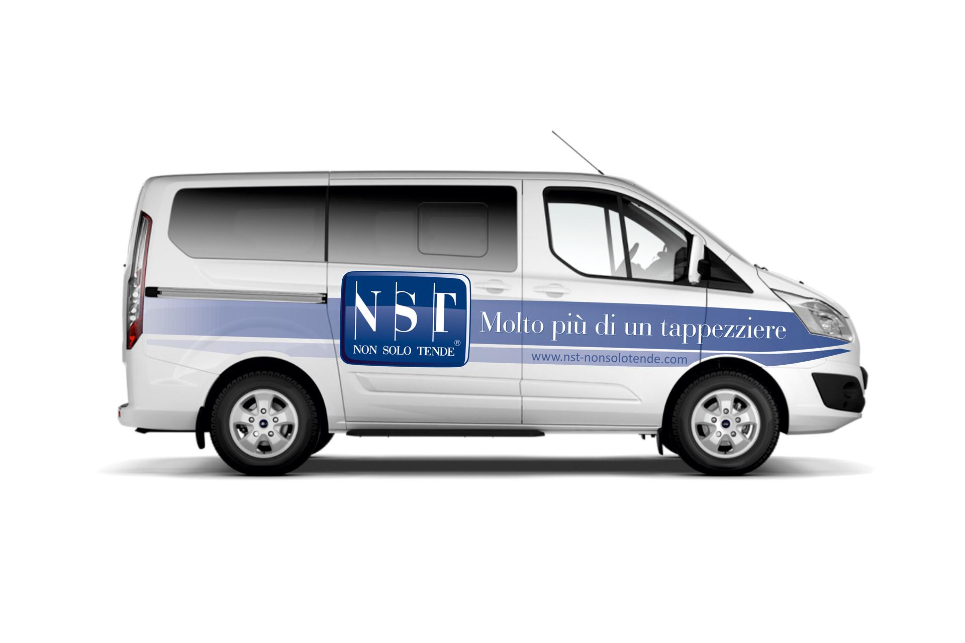 Casarotto Design grafica adesivi decalcomanie automezzi aziendali castiglione delle stiviere mantova brescia furgone nst 01