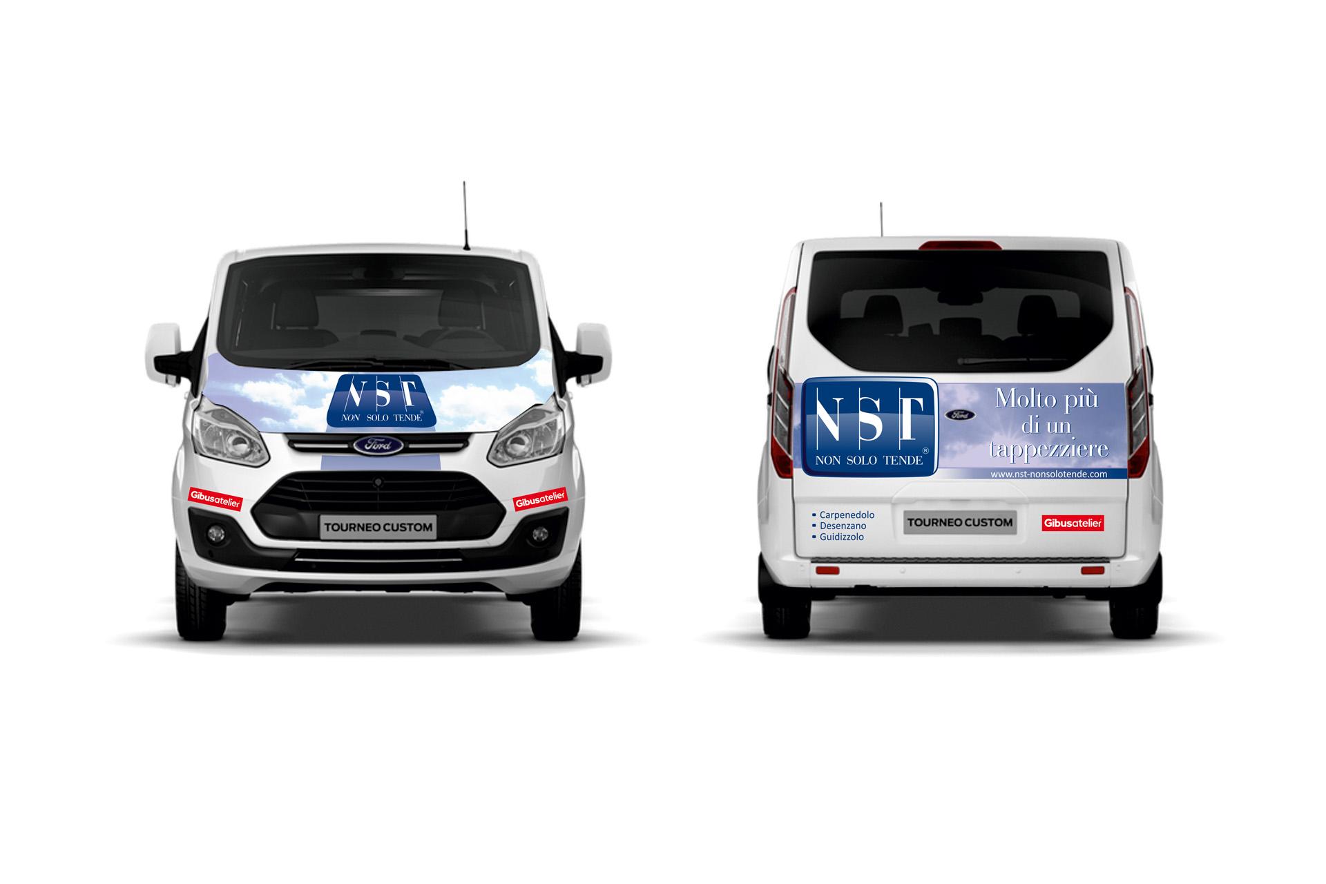Casarotto Design grafica adesivi decalcomanie automezzi aziendali castiglione delle stiviere mantova brescia furgone nst 02
