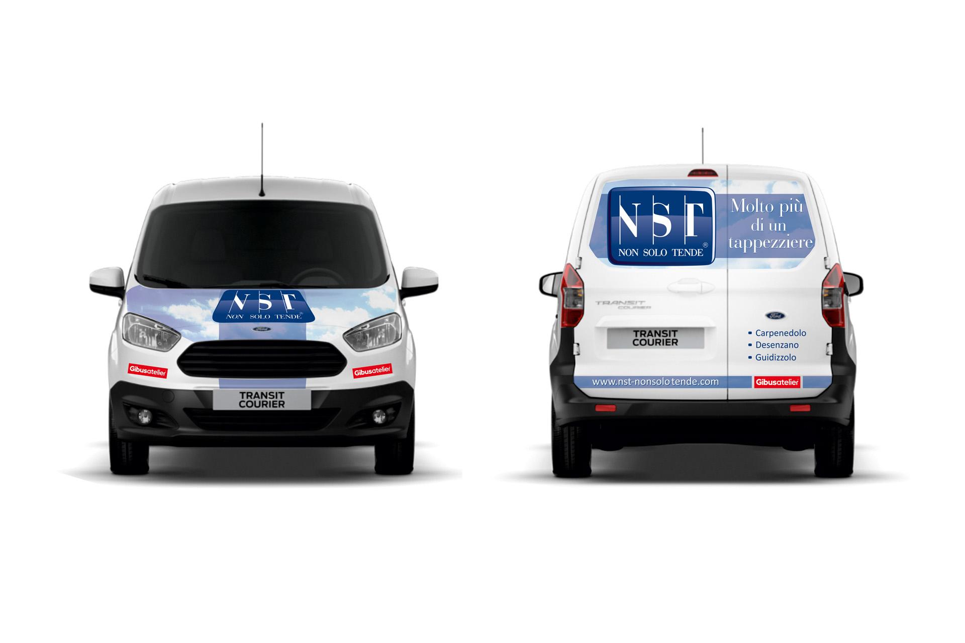 Casarotto Design grafica adesivi decalcomanie automezzi aziendali castiglione delle stiviere mantova brescia furgone nst 04