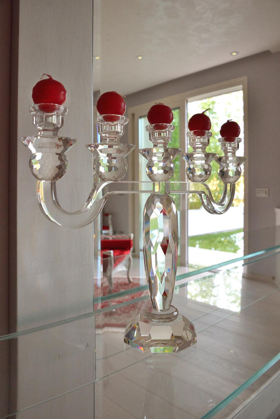 candelabro vetro camera da letto simone casarotto design casa MG
