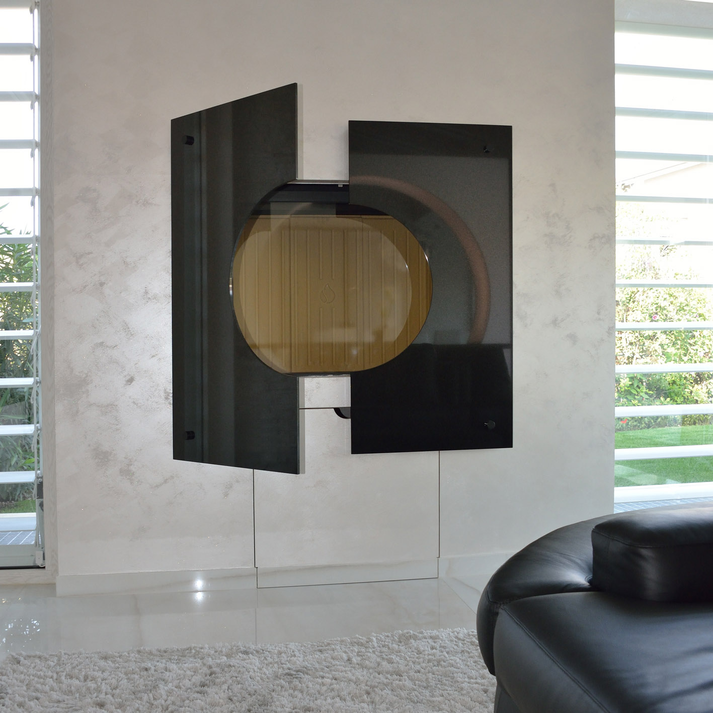 cornice camino marmo nero marquinia simone casarotto design casa MG