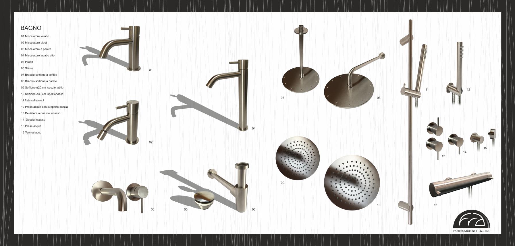interno catalogo Fra Fabbrica rubinetti acciaio casarotto design e comunicazione grafica