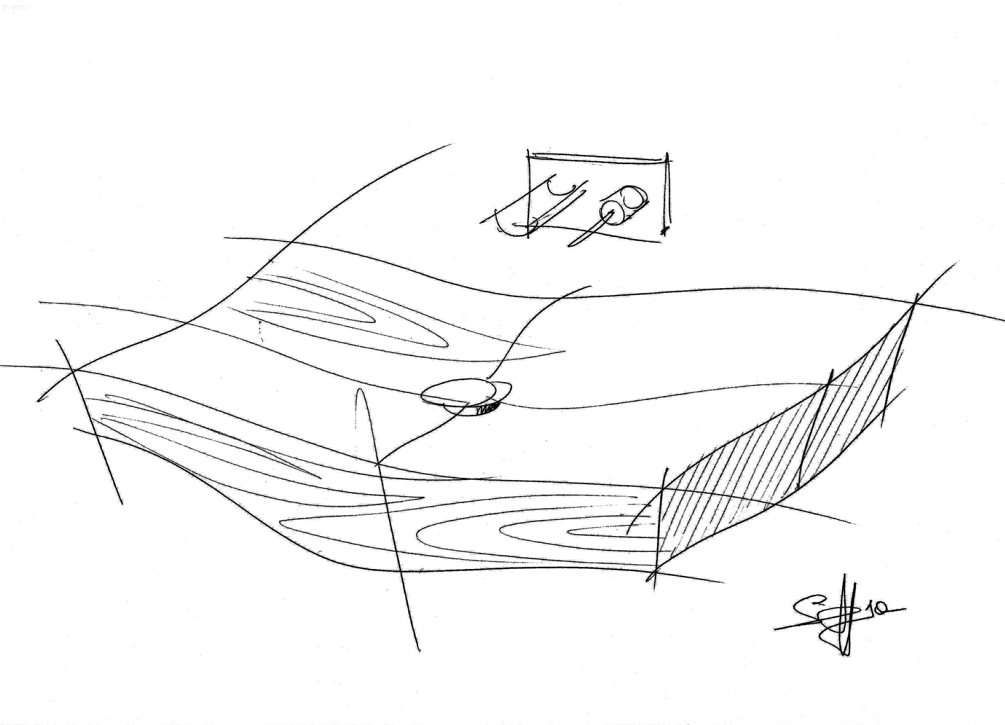 tao spoldi ideabagno lavabo legno simone casarotto design schizzo sketch
