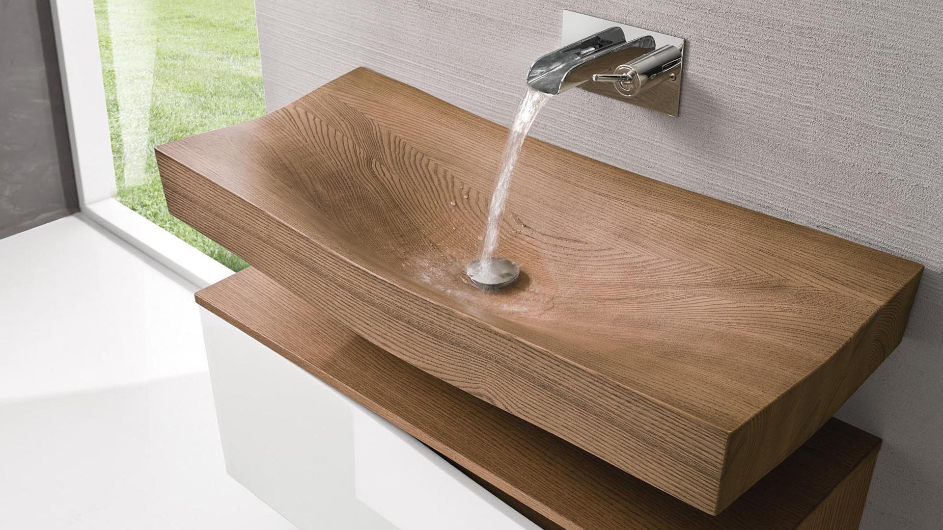 tao spoldi ideabagno lavabo legno simone casarotto design wood washbasin