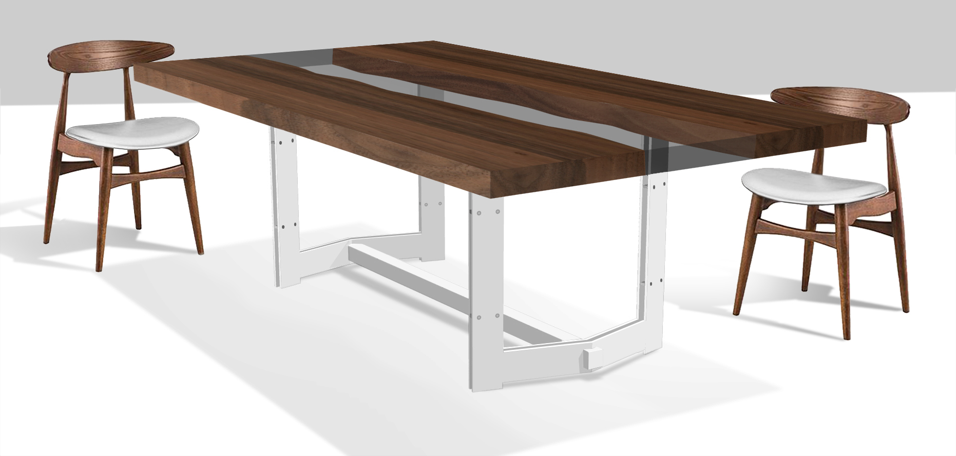 tavolo casarotto design legno noce nazionale resina 1