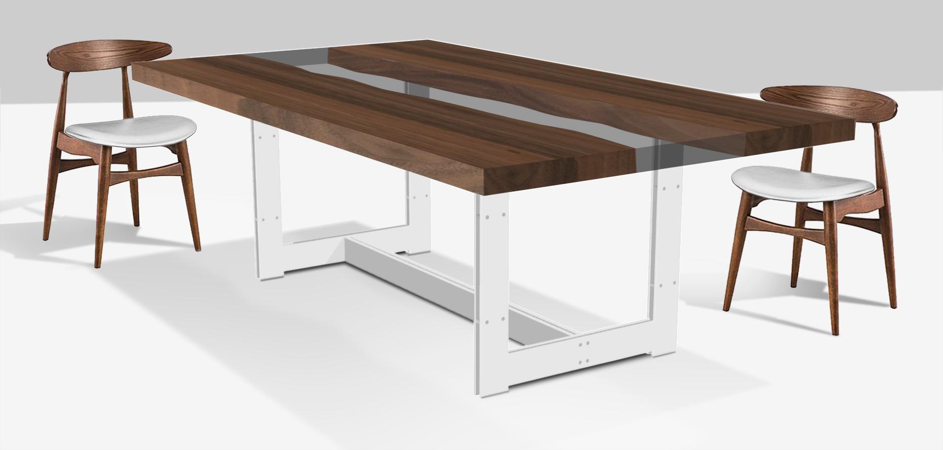 tavolo casarotto design legno noce nazionale resina 2