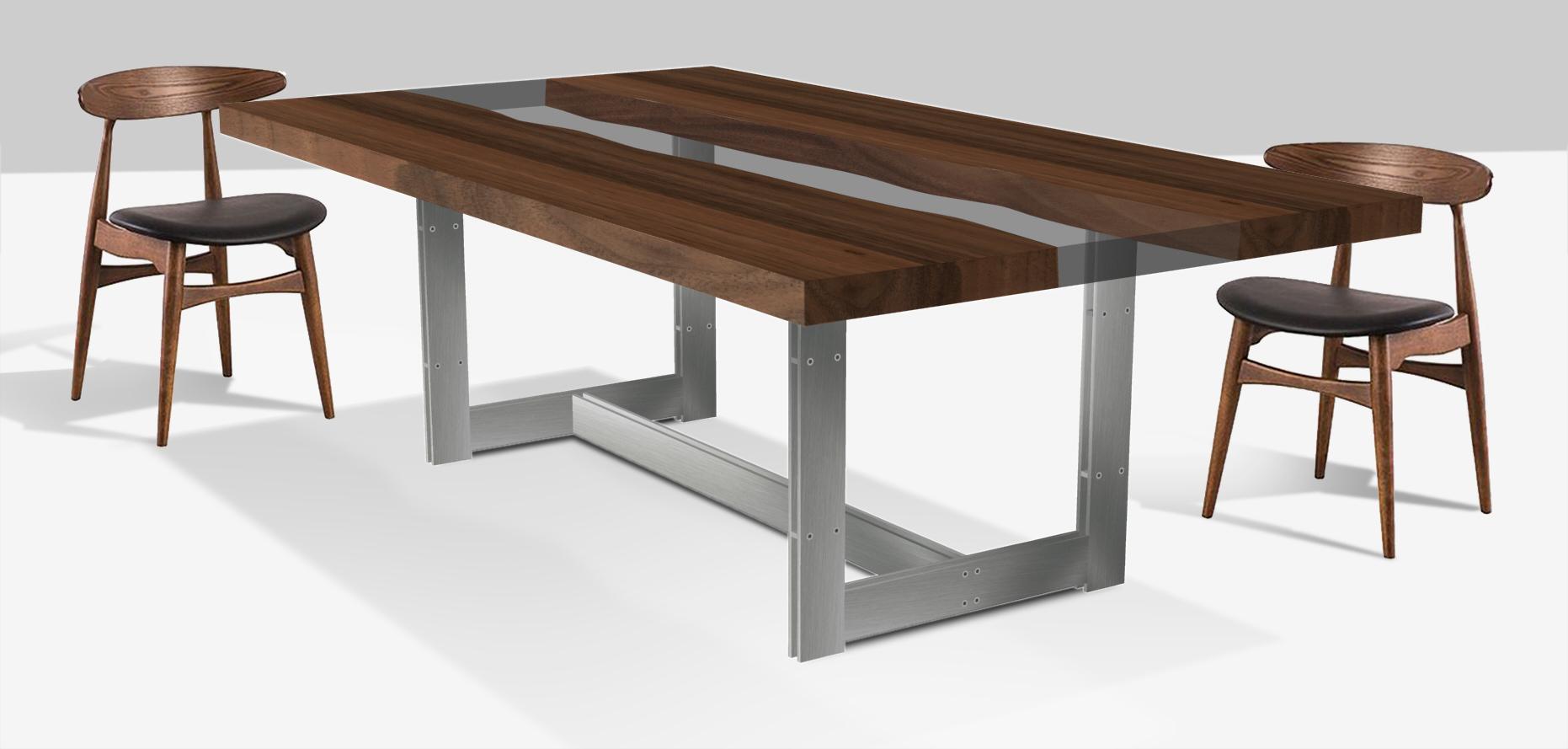 tavolo casarotto design legno noce nazionale resina 3