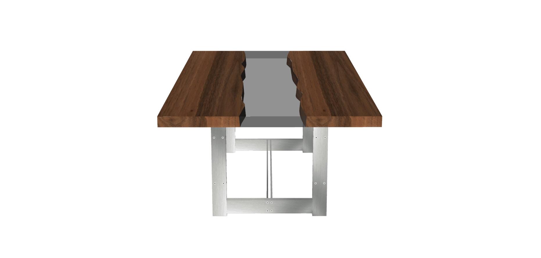 tavolo casarotto design legno noce nazionale resina 4