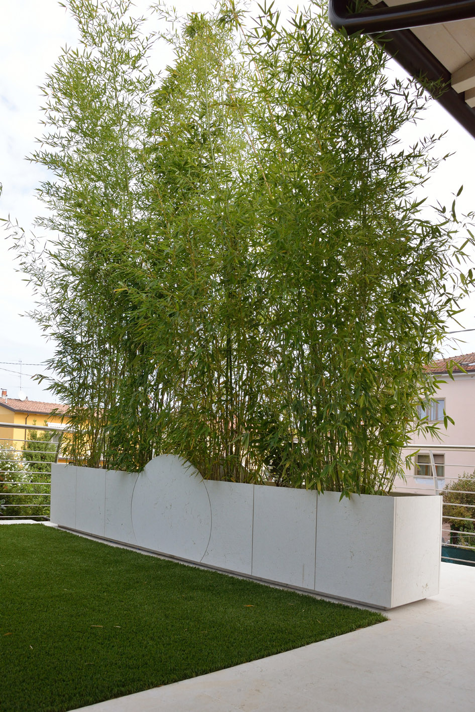 vaso di fiori fioriera marmo trani bambù simone casarotto design casa MG