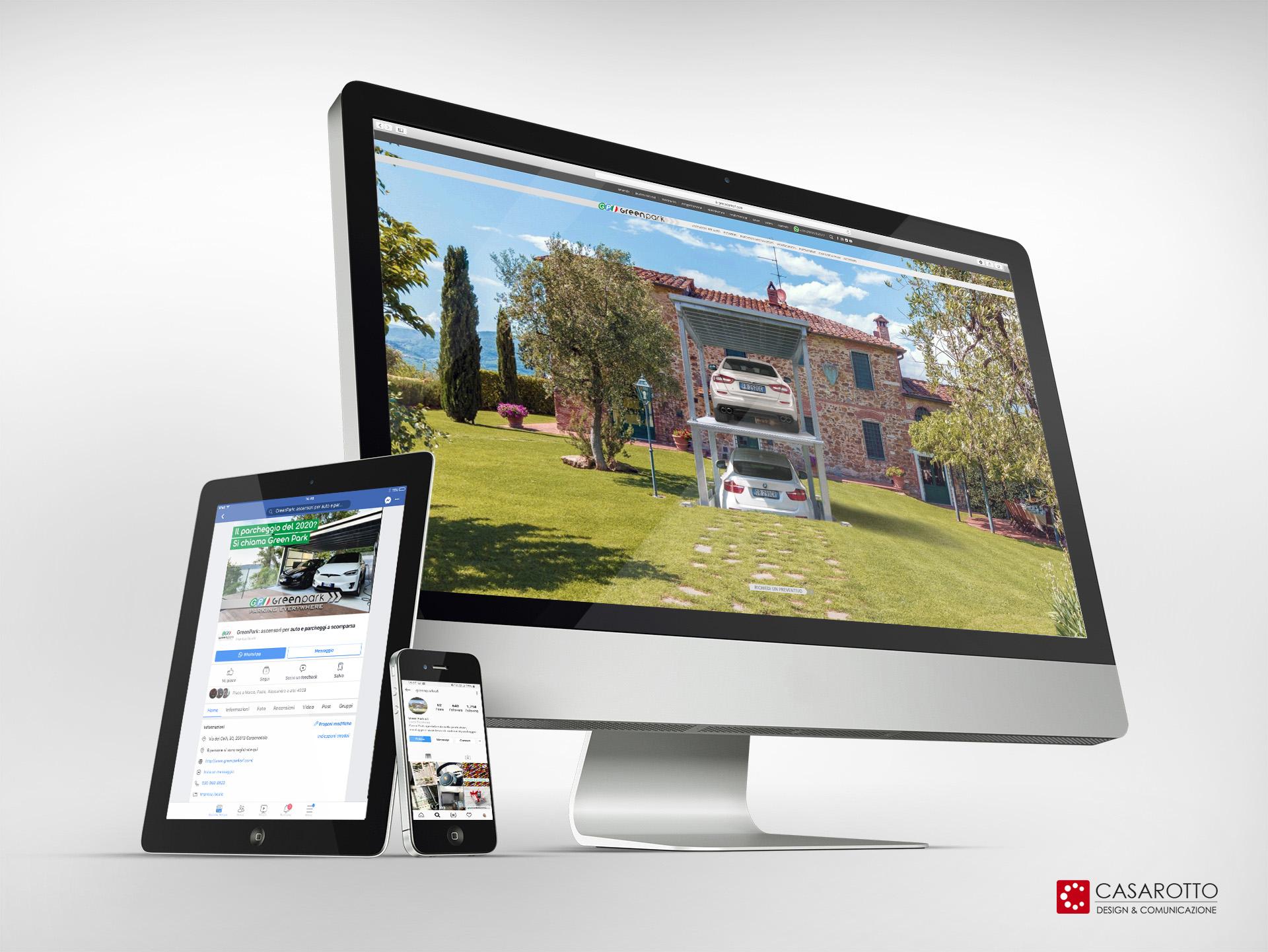 casarotto design comunicazione architettura agenzia castiglione stiviere mantova social siti web brand greenpark pubblicità marketing